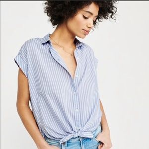 Abercrombie Short Sleeve Button Down S